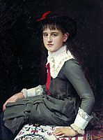Portrait of Barbara Kirillovna Lemokh in childhood , 1882, kramskoy