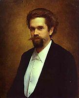 Portrait of the Cellist S Morozov, 1884, kramskoy