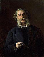 Portrait of Dmitry Vasilyevich Grigorovich , 1876, kramskoy