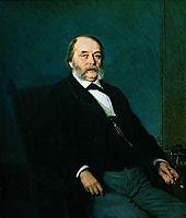 Portrait of Ivan Aleksandrovich Goncharov , 1874, kramskoy