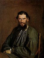 Portrait of Leo Tolstoy, 1873, kramskoy