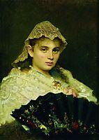 Portrait of Olga Afanasiyevna Raftopulo , 1884, kramskoy