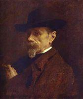 Portrait of the Photographer Andrey Denier, 1883, kramskoy