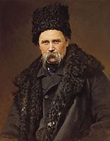 Portrait of a poet and artist Taras Shevchenko , 1871, kramskoy