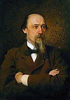 Portrait of the poet Nikolai Nekrasov , 1877, kramskoy