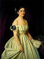 Portrait of Princess Catherine Alekseevny Vasilchikova , 1867, kramskoy