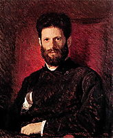 Portrait of sculptor Mark Matveevitch Antokolsky , 1876, kramskoy