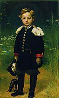 Portrait of Sergei Kramskoy, son of the artist , 1883, kramskoy