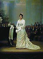 Portrait of singer Elizabeth Andreevny Lavrovsky, on stage at the Assembly of Nobility , 1879, kramskoy