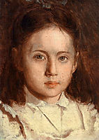 Portrait of Sonya Kramskaya, the Artist`s Daughter, c.1870, kramskoy
