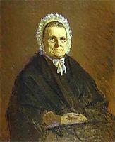 Portrait of Theodora Saltykova, the Painter`s Mother in Law, 1875, kramskoy