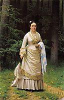 Portrait of Vera Nikolaevna Tretyakova , 1876, kramskoy