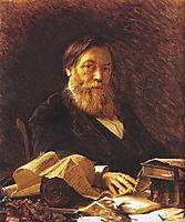 Russian writer Pavel Melnikov, 1876, kramskoy