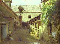 Village-Yard-in-France, 1876, kramskoy