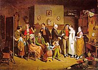 Country Wedding, 1820, krimmel