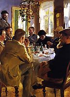 Artists- Luncheon in Skagen, 1883, kroyer