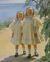 The Benzon daughters, 1897, kroyer