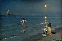 Boys Bathing at Skagen, Summer Evening, 1899, kroyer