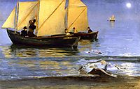 Fishing Boats, 1884, kroyer