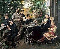 The Hirschsprung family, 1881, kroyer