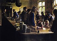 In the Store During a Pause from Fishing, 1882, kroyer