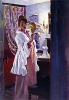 Interior with the Artist-s Wife (Marie Krøyer), 1889, kroyer