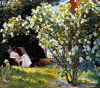 Marie in the Garden (The Roses), kroyer