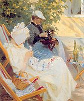Marie and Her Mother in the Garden, 1891, kroyer