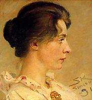 Marie in Profile, 1891, kroyer
