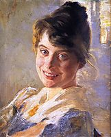 Portrait of the Artist-s Wife, Marie, 1889, kroyer