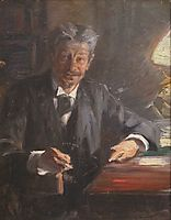 Sketch to portrait of Georg Brandes, 1900, kroyer