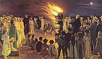 St John-s Eve Bonfire on Skagen-s Beach, 1906, kroyer