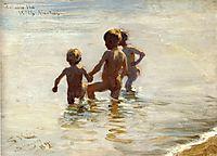 A Summer-s Day at Skagen South Beach, 1884, kroyer