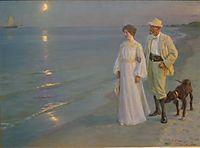 Summer evening on Skagen-s beach, 1899, kroyer