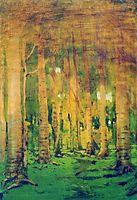 A Birch Grove. Spots of sunlight, c.1895, kuindzhi