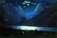 Daryal pass. Moonlight Night, c.1895, kuindzhi