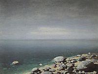 The limpid water. Gloomy day. Crimea, c.1908, kuindzhi
