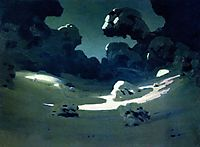 Moonlight in a Forest. Winter, c.1908, kuindzhi