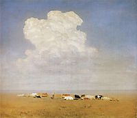Noon. Herd in the steppe, c.1895, kuindzhi