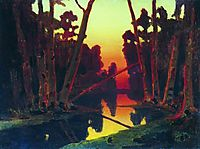 Sunset in the forest, kuindzhi