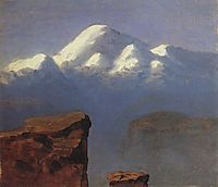 The top of Mount Elbrus in the Sunlight, c.1908, kuindzhi