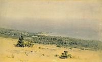 View of the beach and sea from the mountains. Crimea, c.1880, kuindzhi