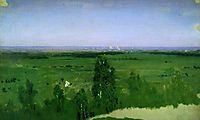 View on Moscow from Sparrow Hills, 1882, kuindzhi
