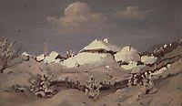 Winter. Spots of Light on Cottage Roof, c.1895, kuindzhi