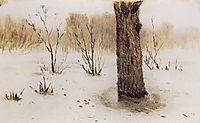 Winter. Thaw, c.1895, kuindzhi