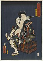 The Actor Kataoka Nizaemon VIII as Kumokiri Nizaemon, 1859, kunisada