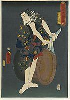 The Actor Kawarazaki Gonjuro I as Osarabakuzo Denji, 1859, kunisada