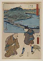 Fifty three Stages of the Tokaido (Tokaido Gojusan), kunisada