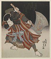 Ichikawa Danjûrô as Unno Kotarô Yukiuji (Disguised as Yamagatsu Buô) from a Kamoise at the Ichmuraza Theatre, c.1828, kunisada