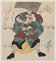 Ichikawa Danjuro VII Wielding an Axe wearing a White haired Wig, c.1825, kunisada
